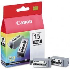 Canon BCI-15BK ink cartridge twinpack, black